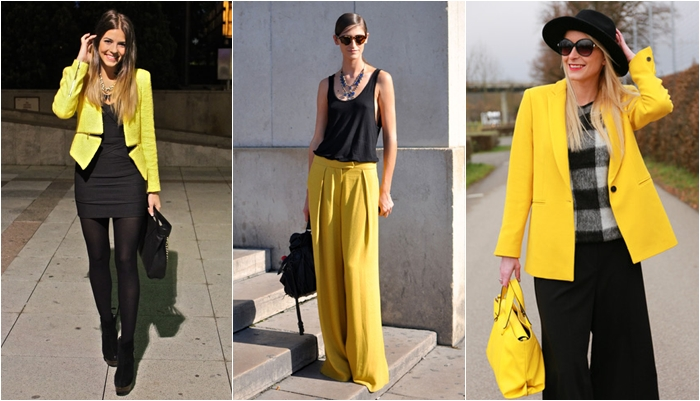 Tips para combinar el color amarillo ser chickas - Colores que combinan con wengue ...