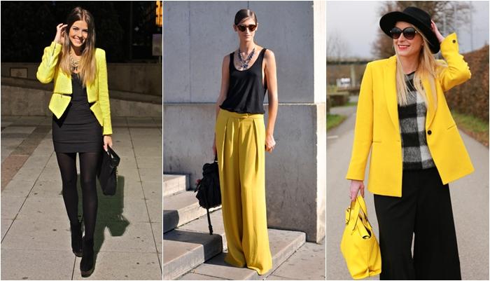 Tips para combinar el color amarillo ser chickas - Colores que combinan con wengue ...