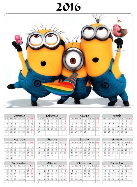 Calendario 2016 - I minions