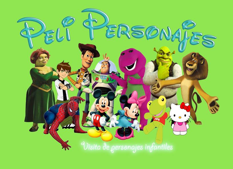 Peli Personajes. Visitas de personajes infantiles