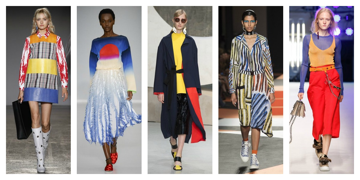 milan fashion week ss16 bright colours trend report mfw