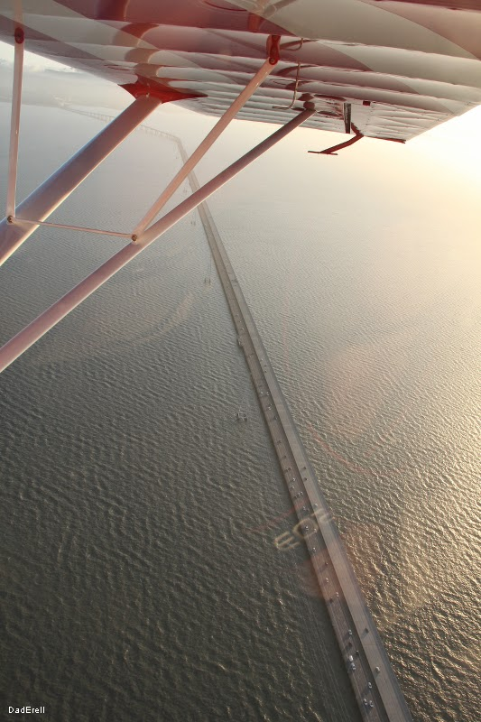 San Mateo Bridge vu d'avion