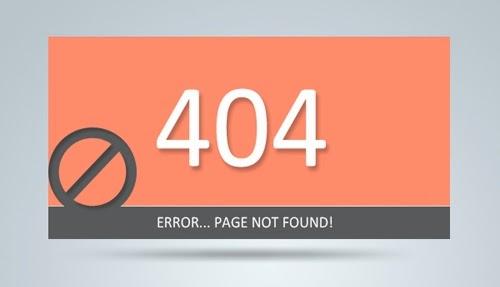 Clean 404 Error Template