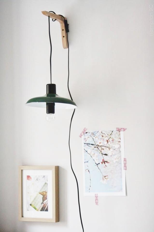 Diy l mpara colgante pared hampton sc - Como poner una lampara de techo ...