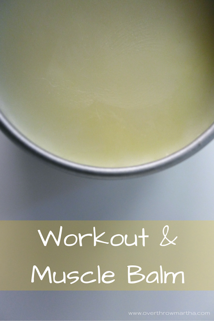 Muscle and Workout Balm to help with those tired, achey muscles post #workout #DIY