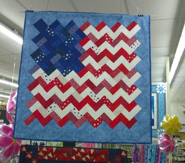 """Craft Warehouse has these great Essential Gems by Wilmington Prints.  Each Essential Gem package has 24 - 2½"""" x 44"""" strips of fabric.  My favorite is the Yankee Doodle strip pack-red, white and blue! by @craftsavvy"""