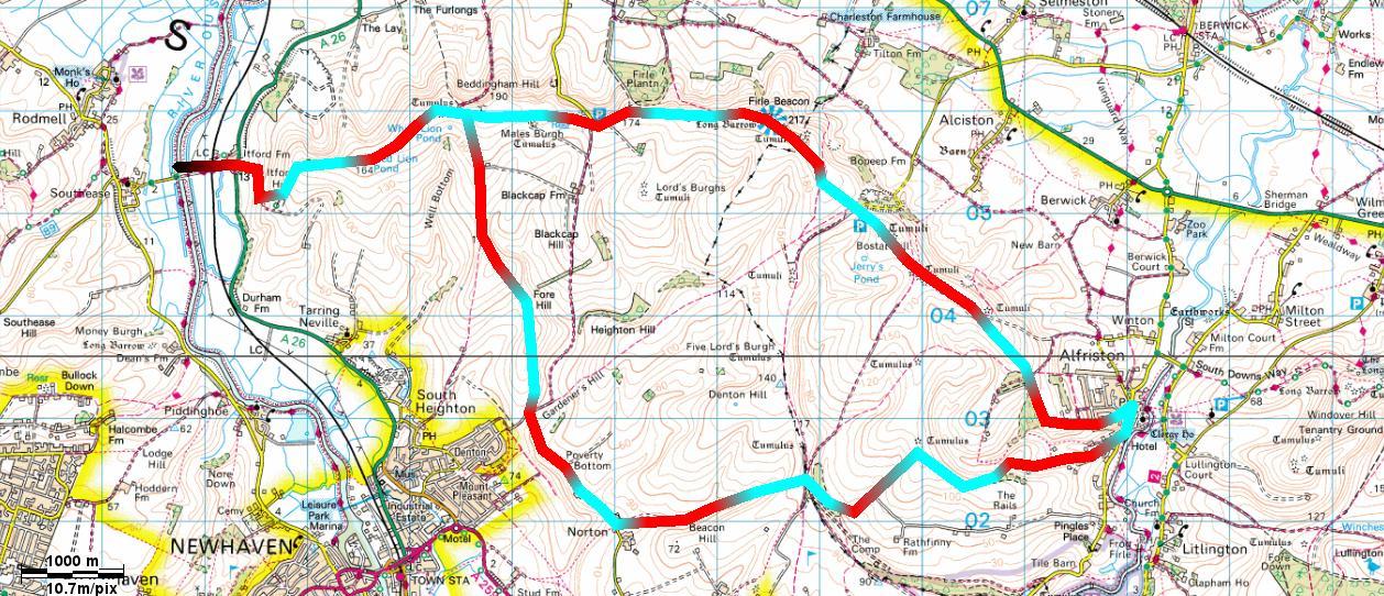 John Hayes Walks: A Circular Walk via Alfriston