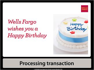 Ecran de GAB Wells Fargo