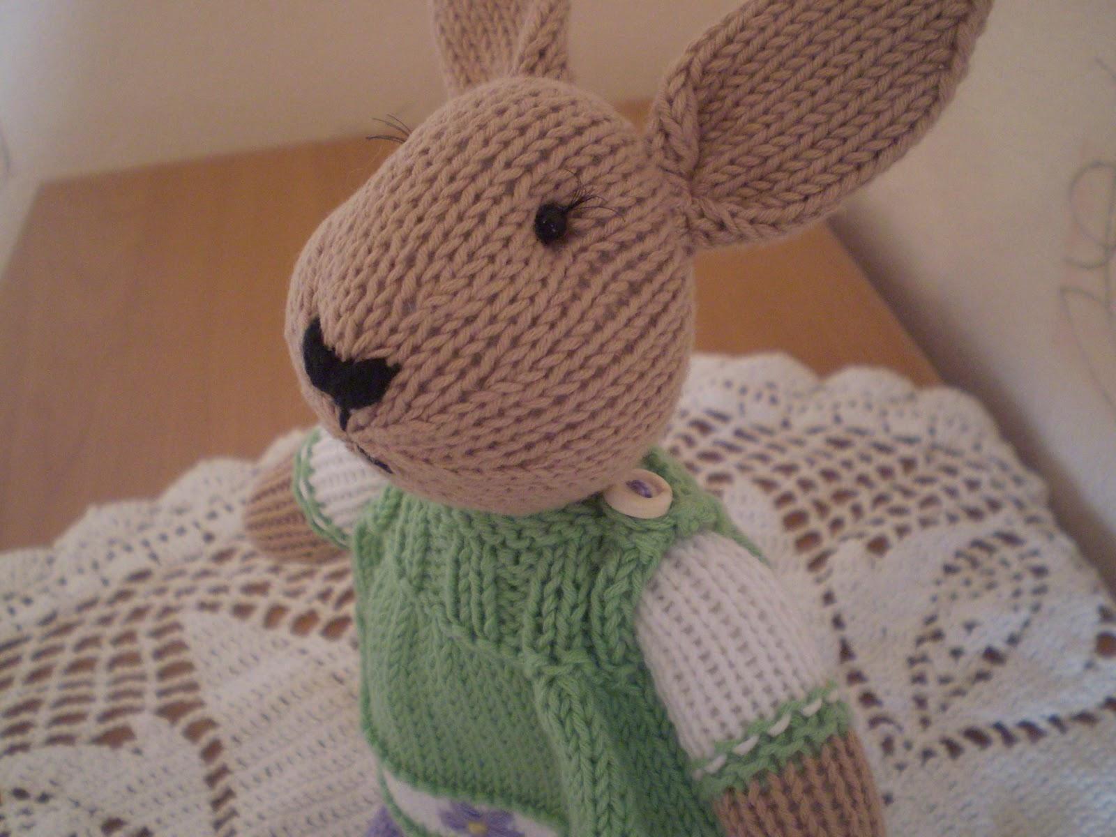 Вязание спицами кролики
