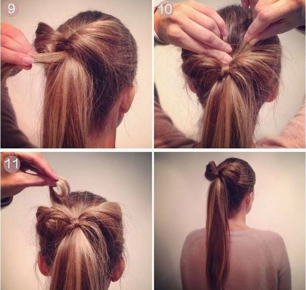 Как сделать красивый хвостик из волос