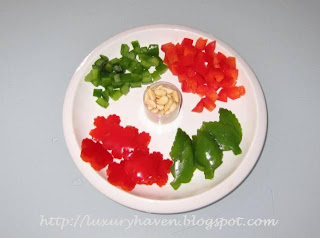 how to make pretty capsicum bell pepper flowers