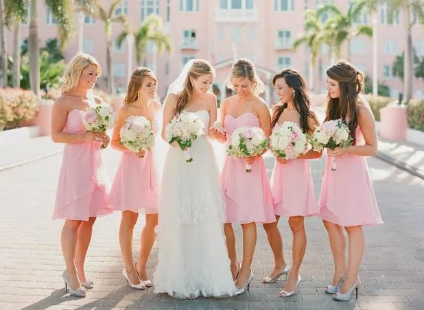 Short Light Pink Bridesmaid Dresses Australia