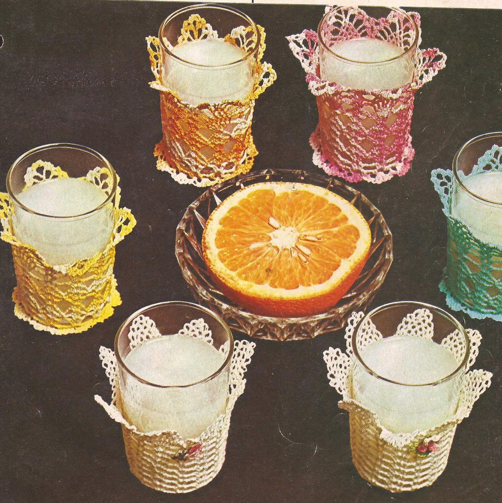 Funda para Vasos a Crochet