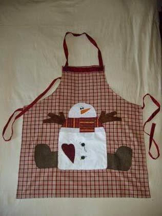 avental em patchwork natal