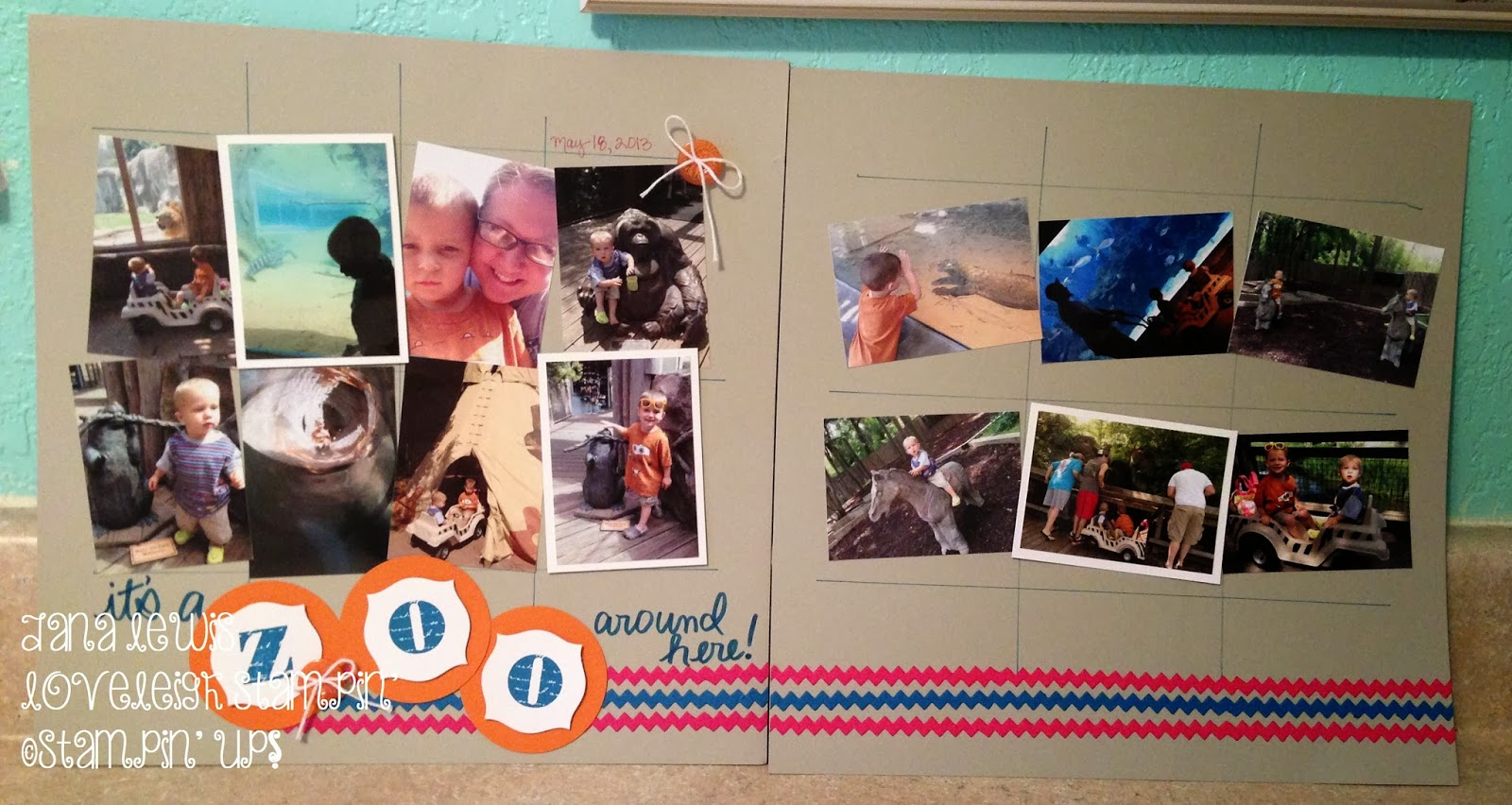 Scrapbook ideas zoo - On This First Layout I Used Numerous Wallet Sized Photos To Capture Our Trip To The Zoo I Felt Like Each Photo Was Important And Didn T Want To Leave Any