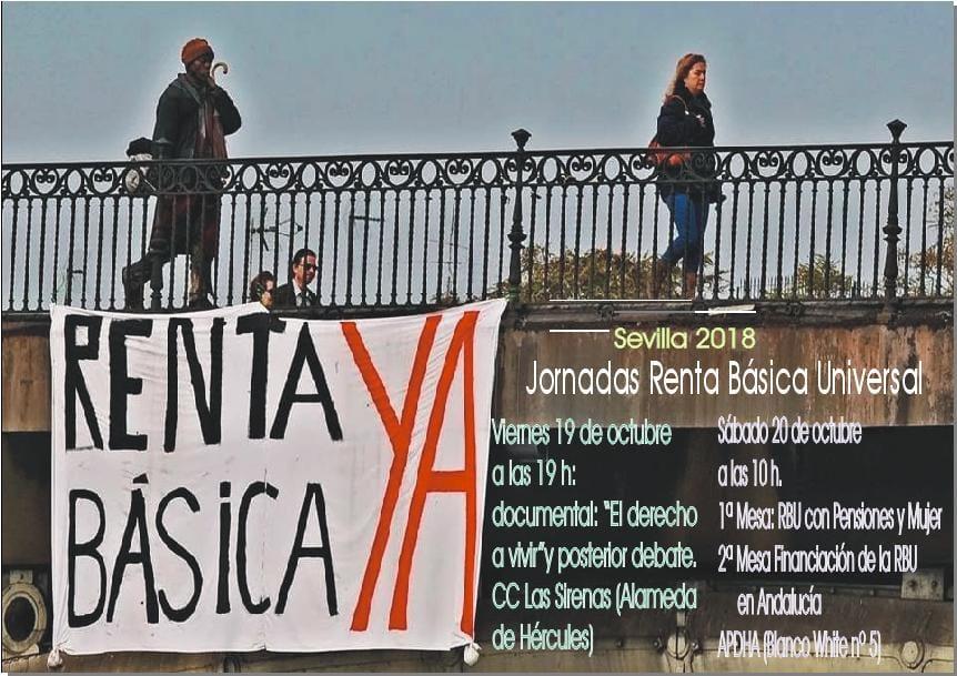 JORNADAS RENTA BÁSICA UNIVERSAL. Sevilla Octubre 2018.