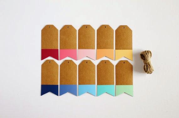 etsy rainbow gifttags