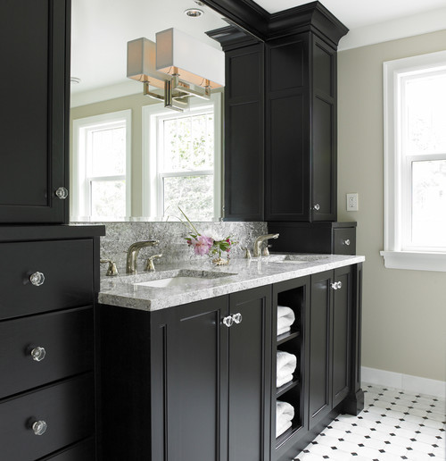 Trend homes trendy black bathroom furniture for Trendy bathrooms