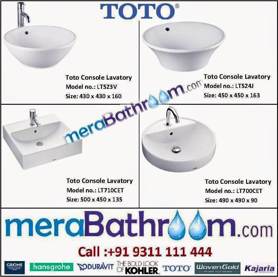 Grohe Showroom: Need of Every Bathroom- Toto Lavatories