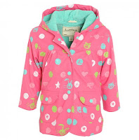 Scribble dot Raincoat in Pink Design Fashion Children 2013