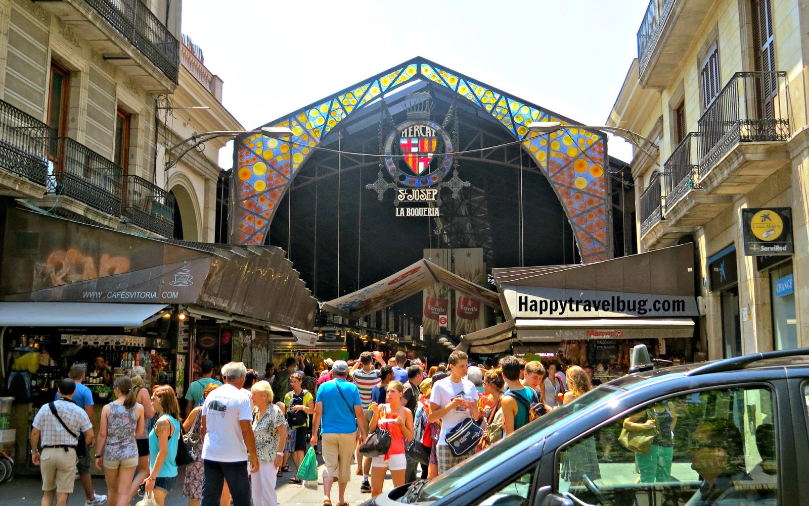 La Boqueria Market in Barcelona, Spain
