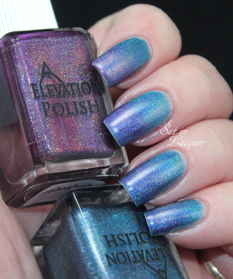 Elevation Polish - Darkest Storm and Halealaka gradient