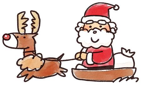 サンタとトナカイのイラスト