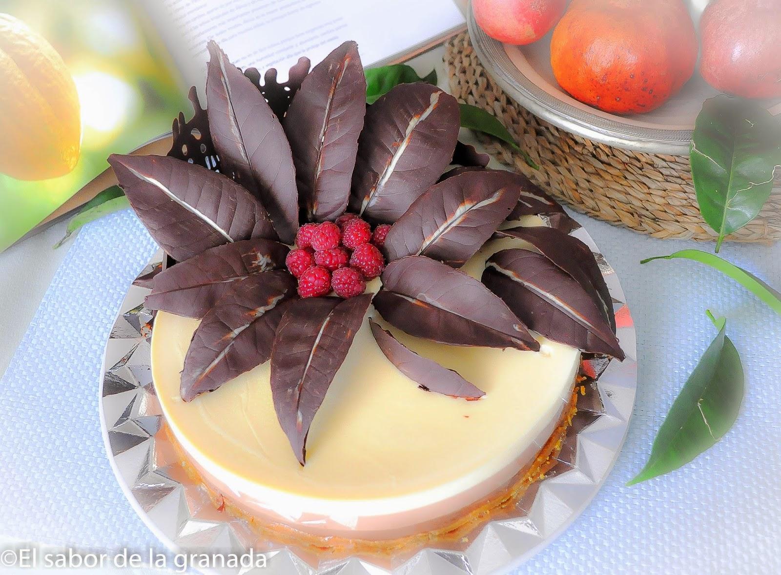 El sabor de la granada tarta de tres chocolates - Decoracion con chocolate ...
