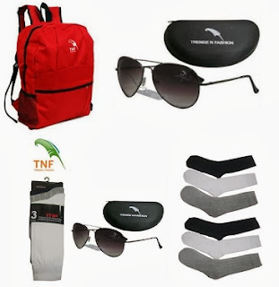 Tnf Red Backpack for Rs.199 Only & Branded Tnf Sunglass UV Protected for Rs.199 Only With Free Shipping