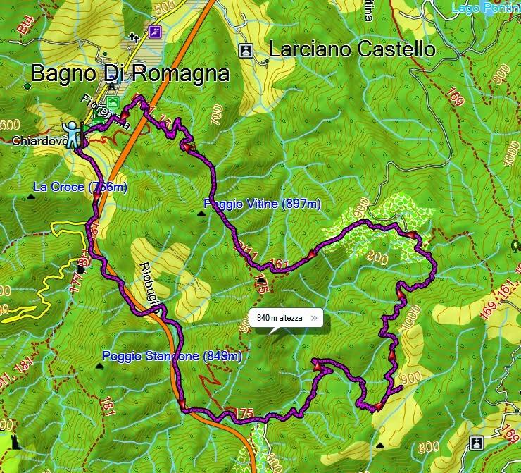 i dì protrar torpidi: Bagno di Romagna - Le Bruschete - Sentiero ...