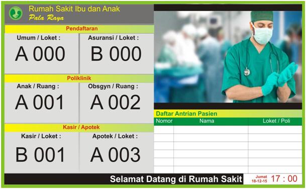 :: Free Download ::: Sistem Antrian Rumah Sakit