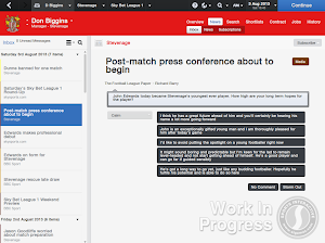 FM14 Press conference player breaking records