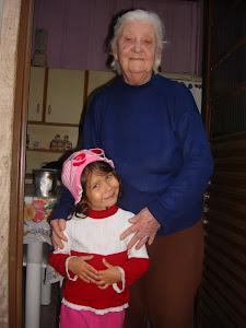 Minha querida Mãe e minha neta Caroline