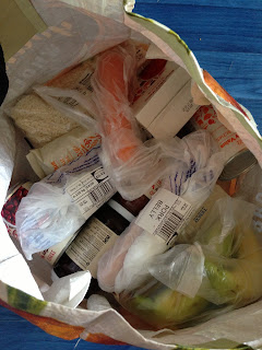 A bag of food shopping