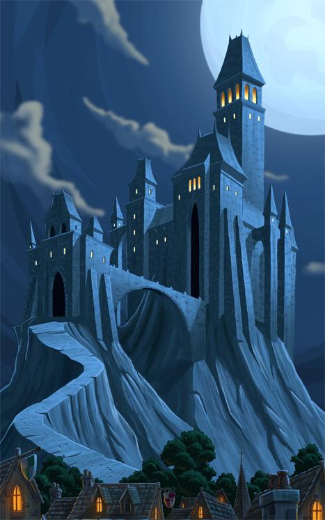 Dracula Castle Movie Castle Dracula Painting