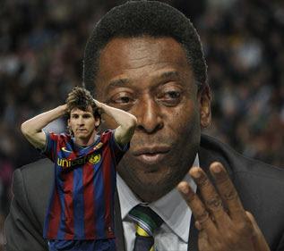 Pelé asegura que a Messi le falta mucho para ser como él