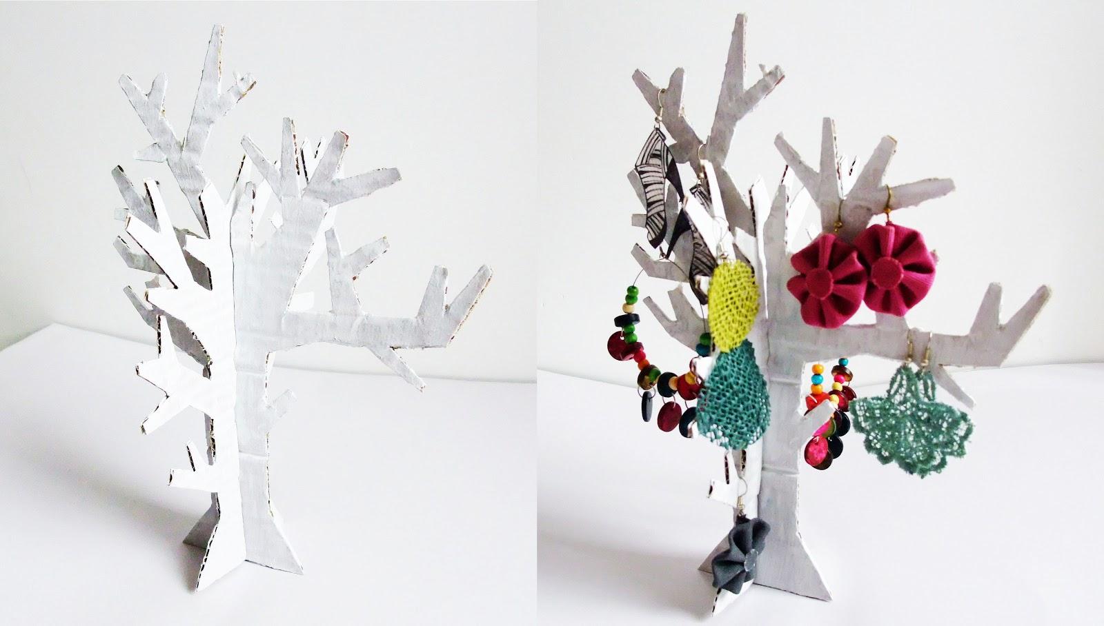 Noxcreare white tree porta orecchini - Porta orecchini ikea ...
