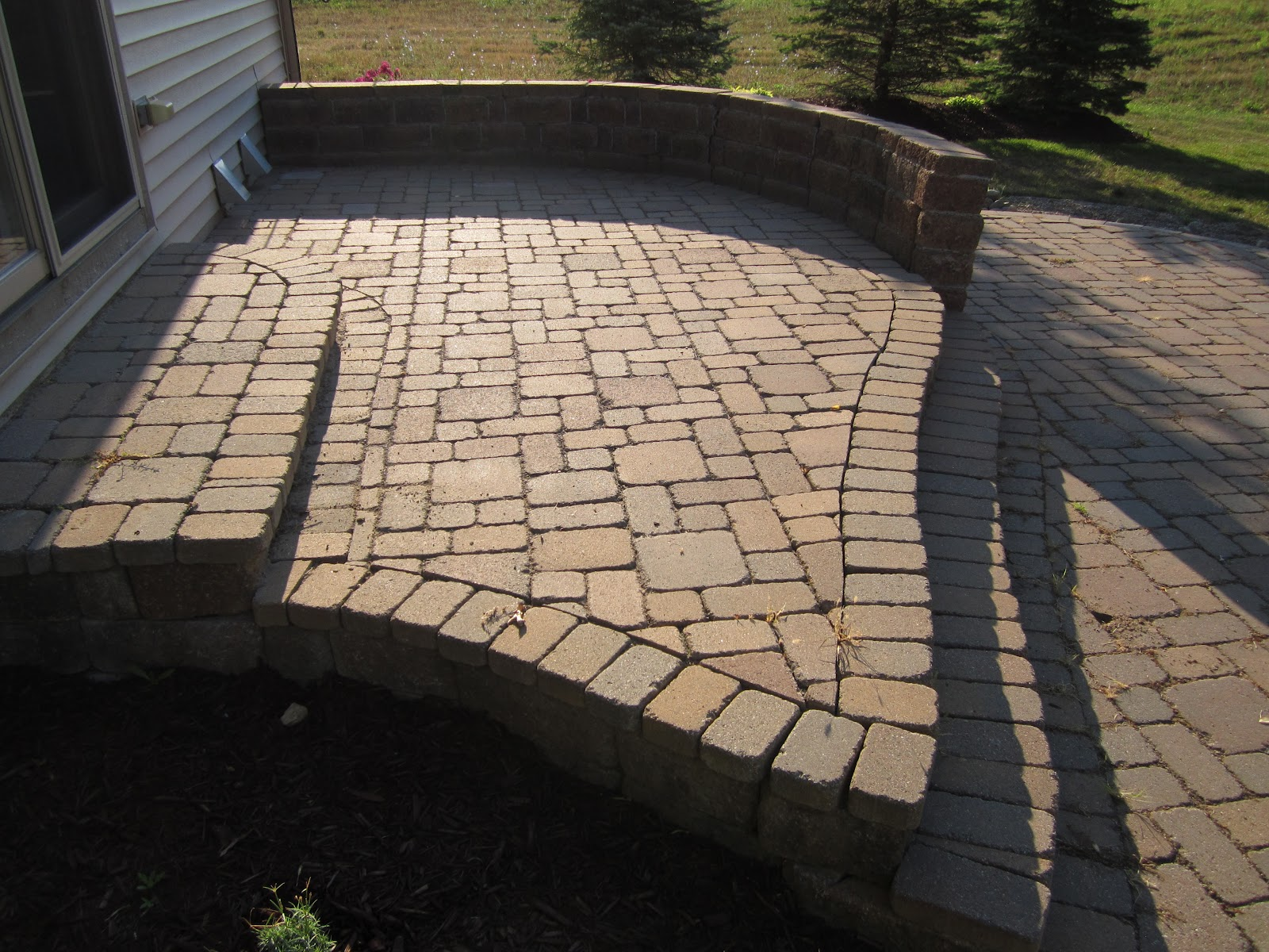 Beautiful Multi Level Paver Patio Is Reconstructed To One Level For Added Space