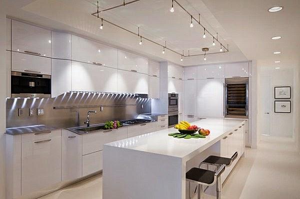 Dise os de cocinas color blanco colores en casa - Iluminacion de cocinas modernas ...