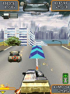 Screenshots of the Death Race for java mobile, phone.