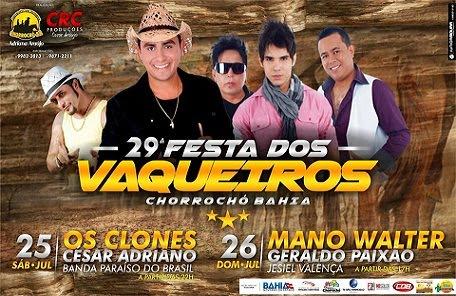 FESTA DOS VAQUEIROS DE CHORROCHÓ 2015