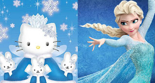 Hello Kitty Frozen Elsa
