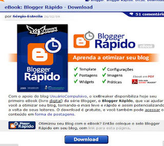 dicas ebook blogger rapido sergio estrela