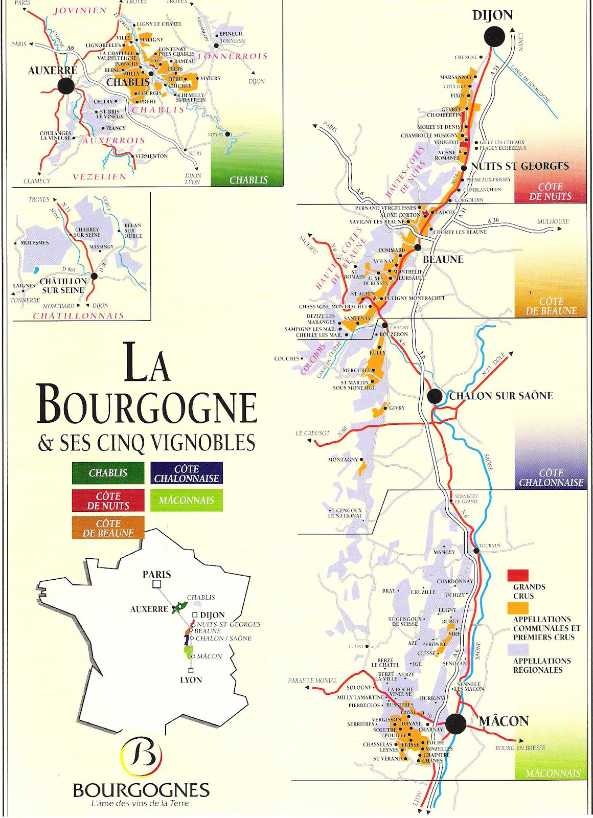 Wine -- Mise en abyme: The Burgundy wine region (sans ...