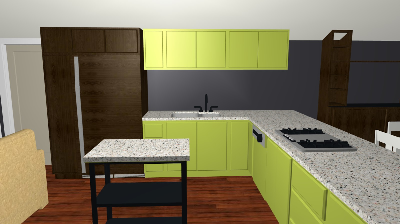 If walls could dream avocado house for Avocado kitchen cabinets