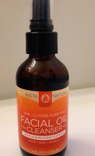 bottle of InstaNatural Facial Oil Cleanser