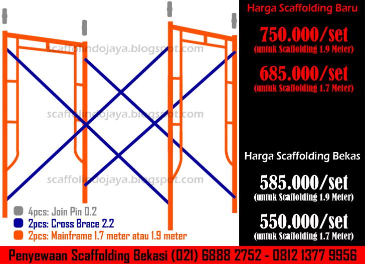 general supplier jual sewa scaffolding baru bekas di Jakarta Bekasi Tangerang Bogor Karawang Cikarang Bandung