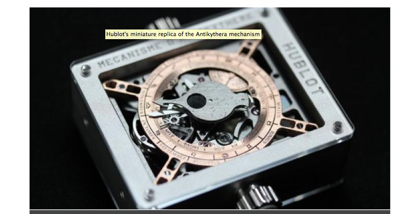 k h watchmaking competence centre the antikythera machine hublot. Black Bedroom Furniture Sets. Home Design Ideas
