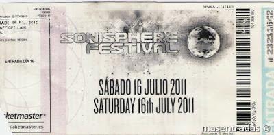entrada del festival sonisphere
