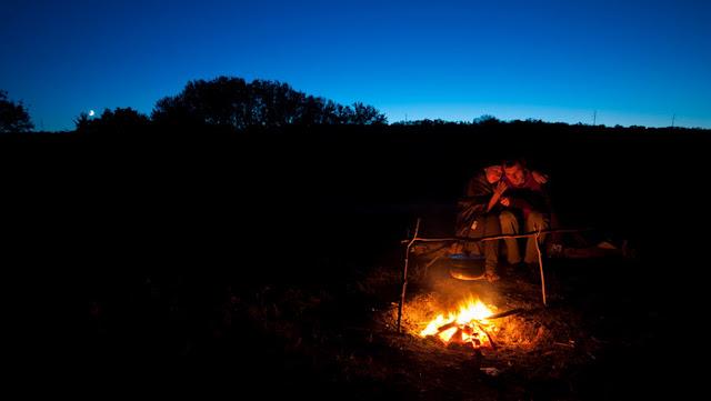 Ночью у костра